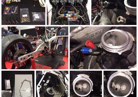 Yamaha R1 met N.O.S. lachgas en verlengde achterbrug