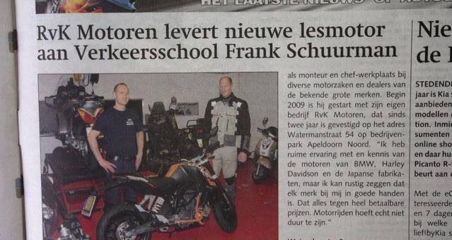 Nieuwe lesmotor geleverd aan Rijschool Frank Schuurman