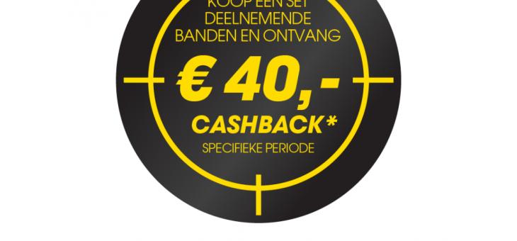 Cashback actie van Dunlop